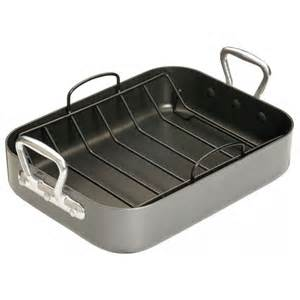 Roasting Pans With Racks by Roasting Pan With Handles And Rack Non Stick Bakestore