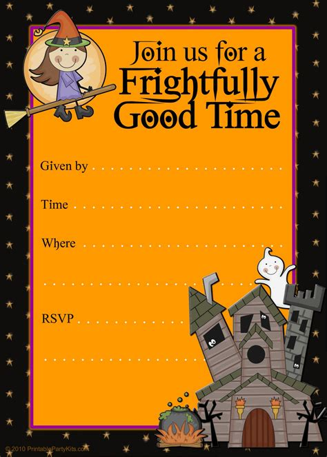 free printable halloween postcard invitations free halloween flyer invitations printable halloweeeeen