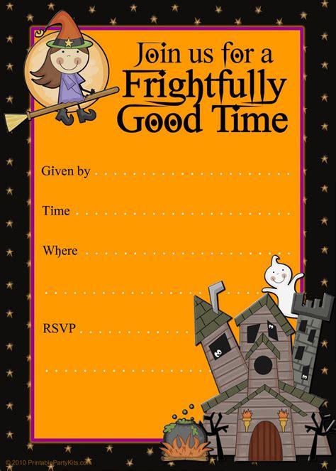 printable halloween invitation cards free halloween flyer invitations printable halloweeeeen
