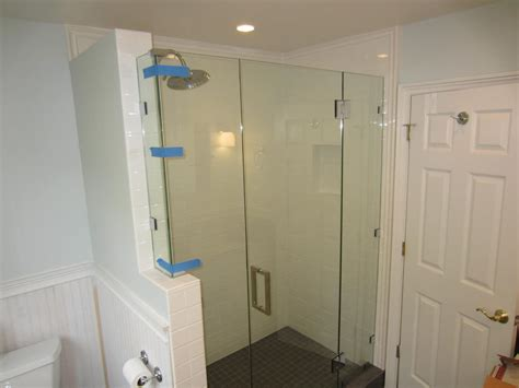Glass Enclosed Shower Stalls Lowes Frameless Shower Doors One Tub Shower Bathtub