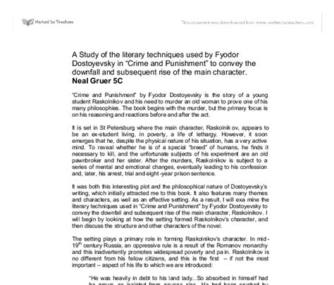 Crime And Essay by Crime And Setting Essay