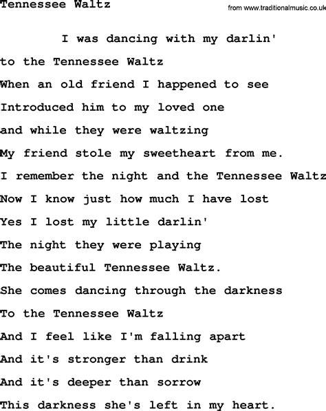 waltz lyrics leonard cohen song tennessee waltz lyrics