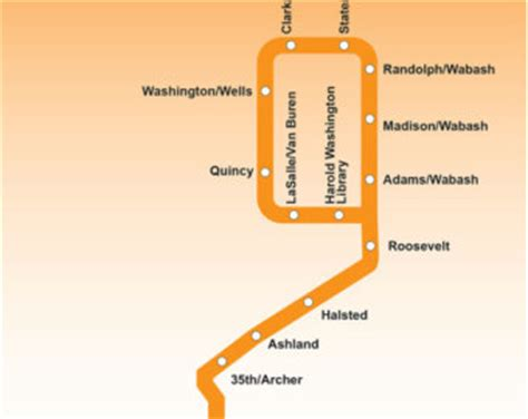 orange line map chicago popular items for orange line on etsy
