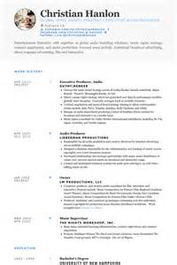 Producer Resume by Executive Resume Sles Visualcv Resume Sles Database