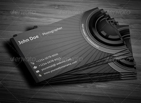 photography business cards templates 17 best photography business card templates designscrazed