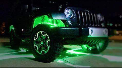 jeep jk rock lights how to install rgb rock lights wireless bluetooth jeep jk
