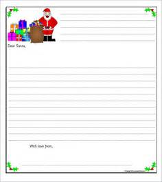 Santa Letter Templates by Santa Letter Template 7 Free Documents In Pdf
