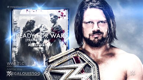 theme music war and peace wwe tlc 2016 official theme song quot ready for war quot pray