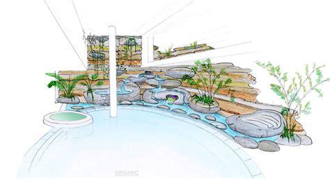 decoration de piscine  de spa avec les ecosculptures de