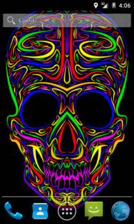 colorful skeleton colorful skull live wallpaper free app android