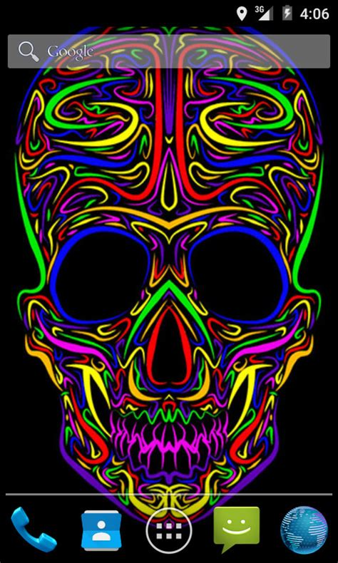 colorful live wallpaper colorful skull live wallpaper android app apk by andapplique