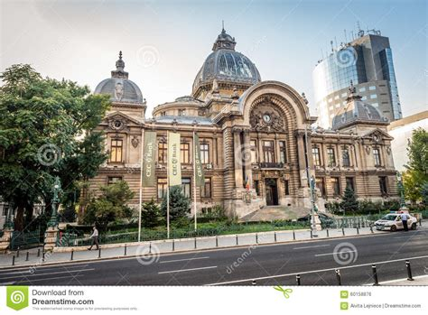 cec bank romania cec bank in bucharest romania editorial photo image