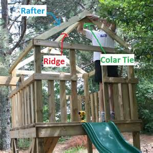 Cheap To Build House Plans how to add a roof to a diy wooden playground playset