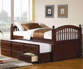 trundle bed coaster cherry finish trundle captains bed for with storage drawers captain s trundle bed