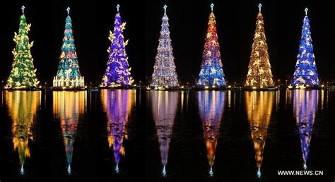 christmas trees in brazil tree lit for in brazil china org cn