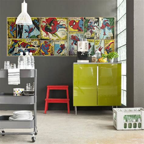 marvel comic bedroom ideas spiderman large photo wall mural new room decor marvel