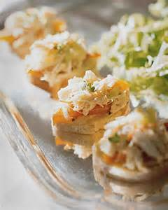 crab salad canapes recipe martha stewart