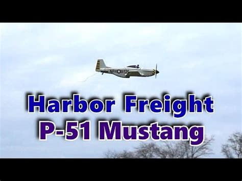 harbor freight p51 mustang radio controlled aircraft you2repeat