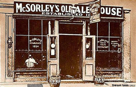old ale house mcsorley s old ale house in new york city around 1910 painting by dwight goss