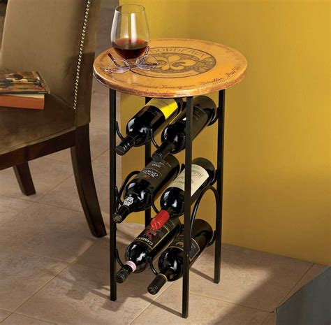 table wine racks wine storage racks for the table small wine rack table with round shape ideas home