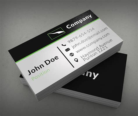 calling card templates free business cards psd templates print ready design