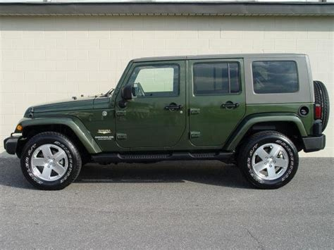jeep sahara green 2008 jeep wrangler unlimited sahara 4x2 jeep colors