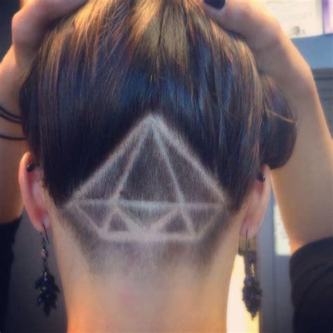 hairstyle back design shaved undercut design diamond hair makeup nails