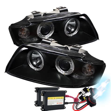2005 audi s4 headlights hid xenon 2002 2005 audi a4 s4 eye halo