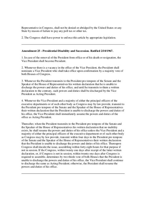 printable version of the constitution printable version of the us constitution