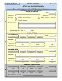 capital expenditure template 7 best images of capital asset transfer form asset
