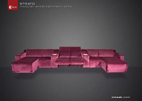 Home Theater Sectional Seating by Media Room Seats From Cineak Gt Gt Strato Sectional Sofas