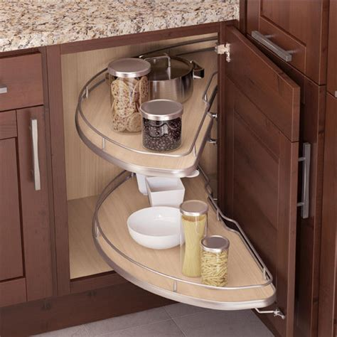 Kitchen Cabinet Configurations Vauth Sagel Cornerstone Corner Kitchen Cabinet Set W 2 Swivel Carousel Shelves Available In