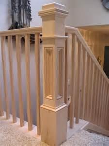 premade banister box newel portland stair company