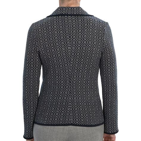 womens knit blazer pendleton jacquard knit blazer for save 81