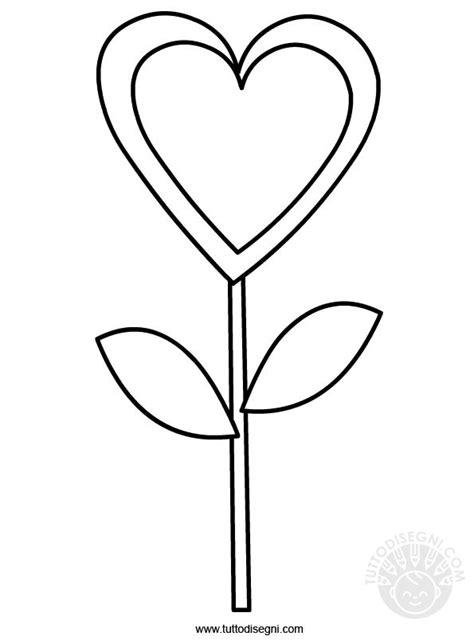 fiore a forma di cuore disegni di cuore da colorare fm06 187 regardsdefemmes