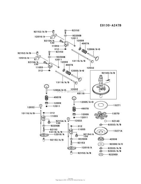 kawasaki frv bs  stroke engine frv parts diagram  valvecamshaft