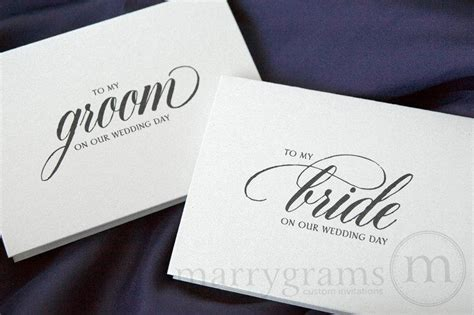 Groom Gift Card - wedding card to your bride or groom on your our wedding day to my groom on our