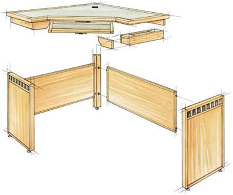 Crafters Corner Computer Desk Plans Woodworking Corner Computer Desk Plans