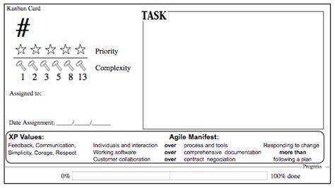 printable kanban cards cool printable kanban card agile scout