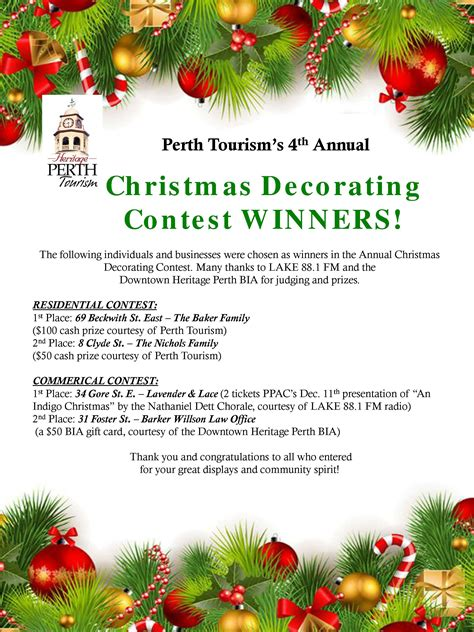 christmas decoration compitition barker willson places 2nd in perth s annual decorating contest barker willson