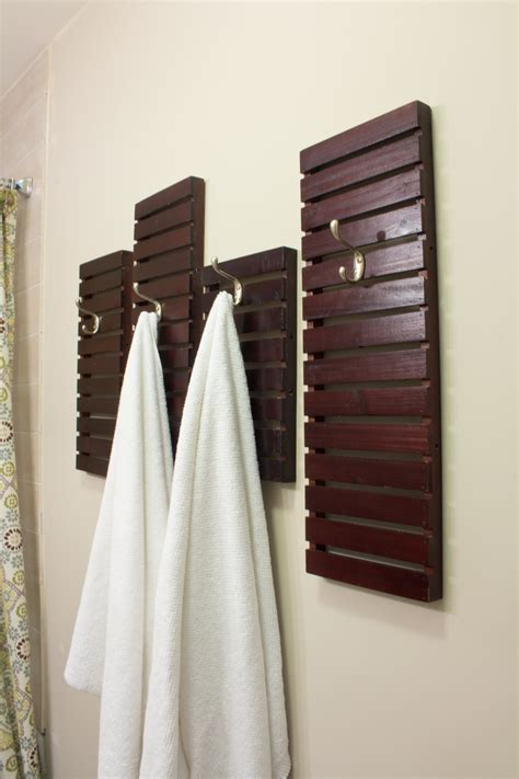 diy towel rack made from shelves thrift store upcycle