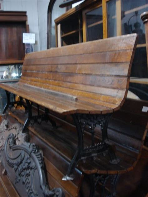 antique railroad bench benches chairs chests oley valley architectural