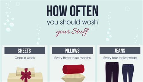 How Often Should You Wash Your Pillows by Here S How Often You Should Clean Your Stuff Infographic