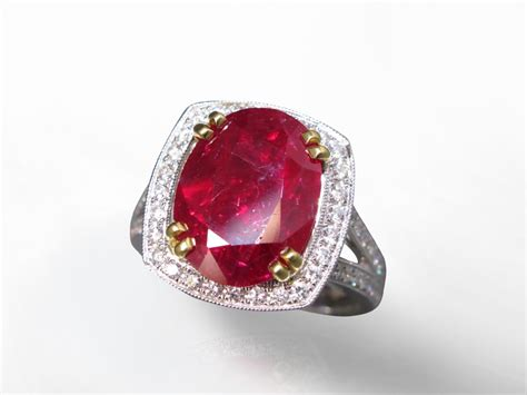 Ruby 13 19ct 5 19ct oval cut unheated ruby and ring certified