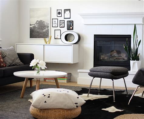 Black And White Living Room Rug by Black And White Living Rooms Design Ideas