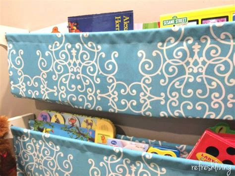 Cloth Book Shelf by Diy Fabric Bookshelves Refresh Living