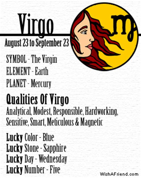 your zodiac profile virgo