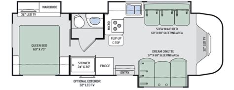 class b rv floor plans 2016 siesta 29tb class b plus motorhomes rvs rv rv travel and rv