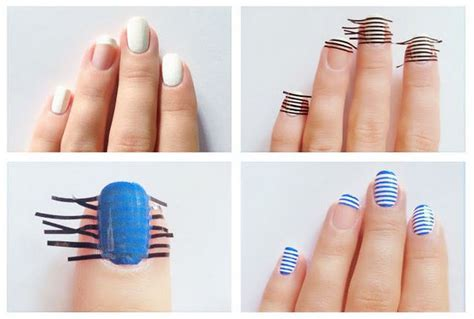 design your nails with tape diy nails art tutorials diy land