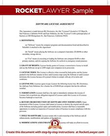 software license agreement template software license agreement template form with sle